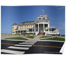 Ocean House At Night, Watch Hill, RHode Island 2 Poster