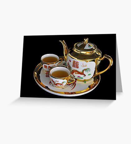 Chinese Tea Set  Greeting Card