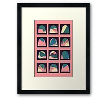 Colourful patterned domes Framed Print
