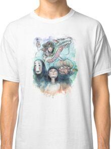 Spirited Away Miyazaki Tribute Watercolor Painting Classic T-Shirt