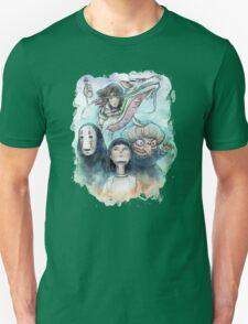 Spirited Away Miyazaki Tribute Watercolor Painting Unisex T-Shirt