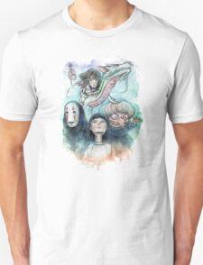 Spirited Away Miyazaki Tribute Watercolor Painting T-Shirt