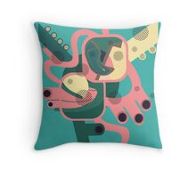 Abstract colourfest Throw Pillow