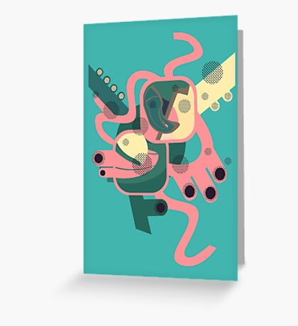 Abstract colourfest Greeting Card