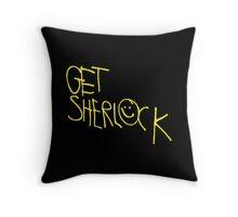 Get Sherlock Throw Pillow