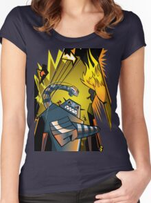 Attack of the giant robot Women's Fitted Scoop T-Shirt