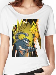 Attack of the giant robot Women's Relaxed Fit T-Shirt