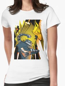 Attack of the giant robot Womens Fitted T-Shirt