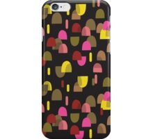 Retro domes in pink & yellow iPhone Case/Skin