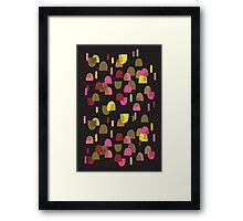Retro domes in pink & yellow Framed Print