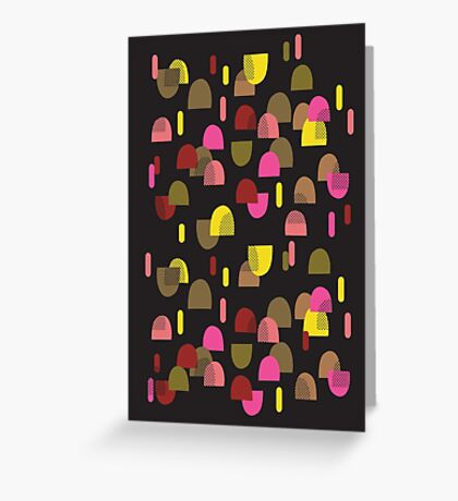 Retro domes in pink & yellow Greeting Card