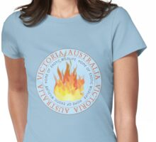 Victorian fires Womens Fitted T-Shirt