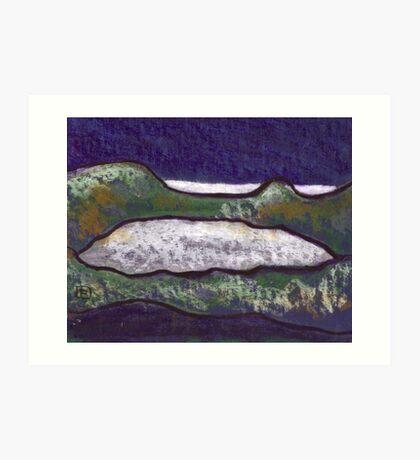 Lake by the Sea Art Print