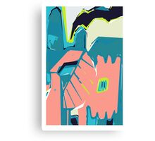 Freestyle pastel abstract Canvas Print