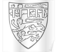 A Complete Guide to Heraldry - Figure 705 — Edward of Carnarvon, Prince of Wales (afterwards Edward II), bore before 1307 Poster