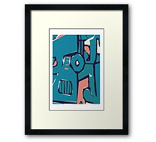 Pink and blue freestyle abstract Framed Print