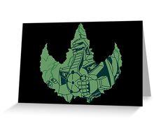 Dragonzord Broken Greeting Card