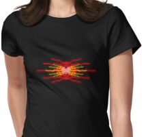 burning love Womens Fitted T-Shirt