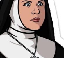 Pam the Nun Sticker
