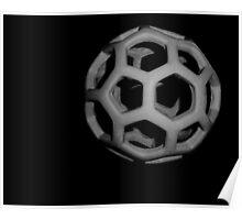 Spheroid In Black Poster