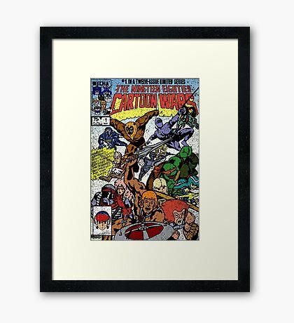 Cartoon Wars Framed Print