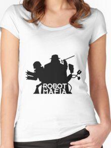Robot mafia Women's Fitted Scoop T-Shirt