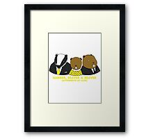 Badger, Beaver and Beaver Framed Print