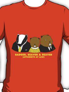 Badger, Beaver and Beaver T-Shirt