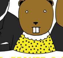 Badger, Beaver and Beaver Sticker