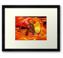 Demon Rage Contained Framed Print