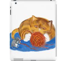 Mouse and Kitten with a Yarn Ball iPad Case/Skin