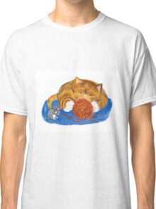Mouse and Kitten with a Yarn Ball Classic T-Shirt