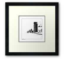 Crossing at the Silo Framed Print