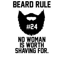 Beard Rule #24 Photographic Print