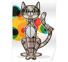 Plaiddy Cat Poster