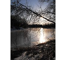 Sunsetting On A Small Town Pond Photographic Print