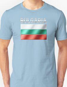Bulgaria - Bulgarian Flag & Text - Metallic Unisex T-Shirt