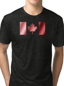 Canadian Flag - Canada - Metallic Tri-blend T-Shirt