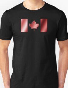 Canadian Flag - Canada - Metallic Unisex T-Shirt