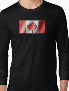 Canadian Flag 2 - Canada - Metallic Long Sleeve T-Shirt