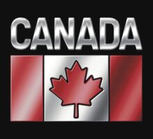 Canada - Canadian Flag & Text - Metallic by graphix