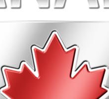 Canada - Canadian Flag & Text - Metallic Sticker
