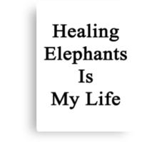 Healing Elephants Is My Life  Canvas Print