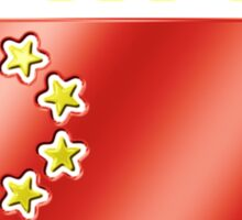 China - Chinese Flag & Text - Metallic Sticker