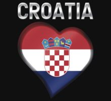 Croatia - Croatian Heart & Text - Metallic T-Shirt