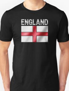 England - English Flag & Text - Metallic T-Shirt