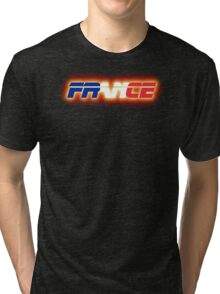 France - Flag Logo - Glowing Tri-blend T-Shirt