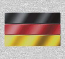 German Flag - Germany - Metallic Kids Tee