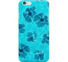 Paisley Hibiscus Vintage Psychedelic Floral - Turq iPhone Case/Skin