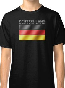 Deutschland - German Flag & Text - Metallic Classic T-Shirt